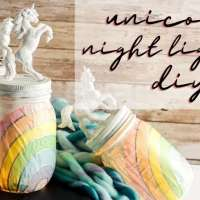 #Upcycled Unicorn Nightlight