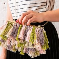 Easy #DIY Fringe Clutch