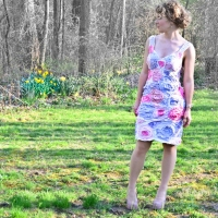 Amazing #Upcycled Floral T-shirt Dress