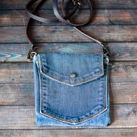 #Upcycled Denim Crossbody Bag