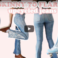 Skinny Jeans to Flares #Tutorial