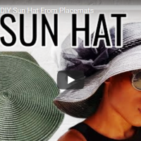 #Upcycled Placemat Sunhat #DIY