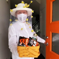 #Upcycled Bee Keeper Costume
